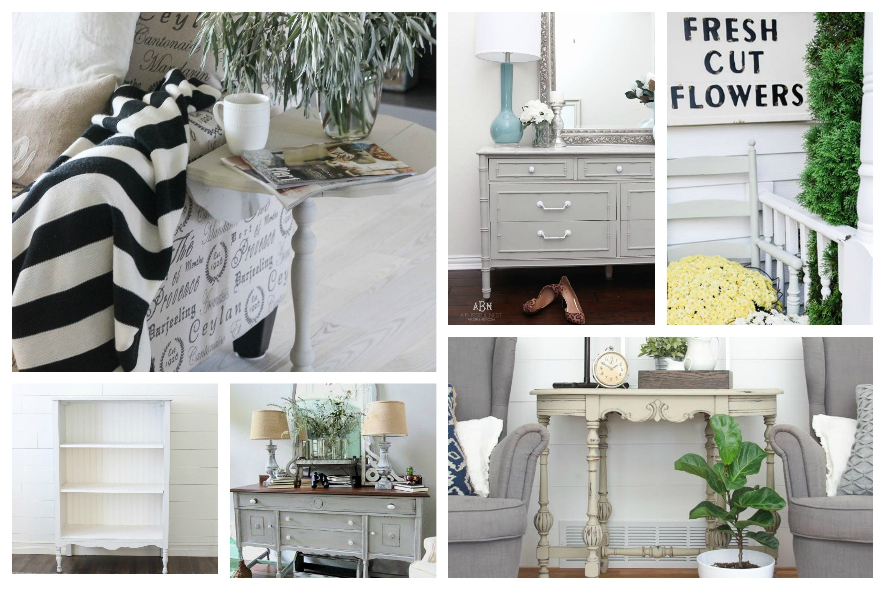 Maison Blanche Paint Company Vintage Painted Furniture Makeover Projects and Ideas