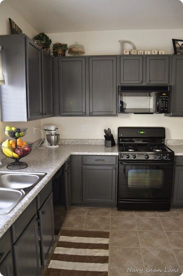 Navy Bean Lane, Gray Kitchen Ideas