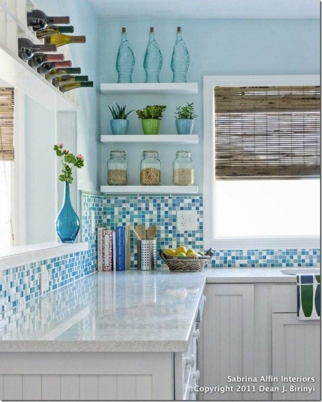 Sabrina Alfin Interiors, Turquoise and Aqua Kitchen Ideas