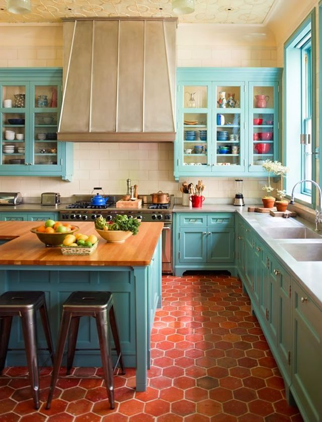 Sawyer Benson, Turquoise and Aqua Kitchen Ideas