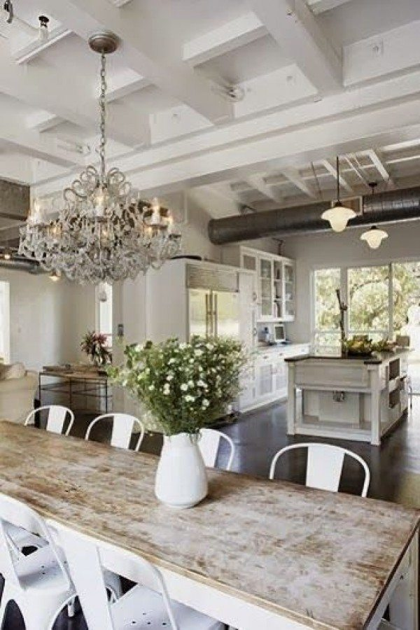 Seeking Lavendar Lane White Distressed Kitchen Table, White Kitchen Ideas