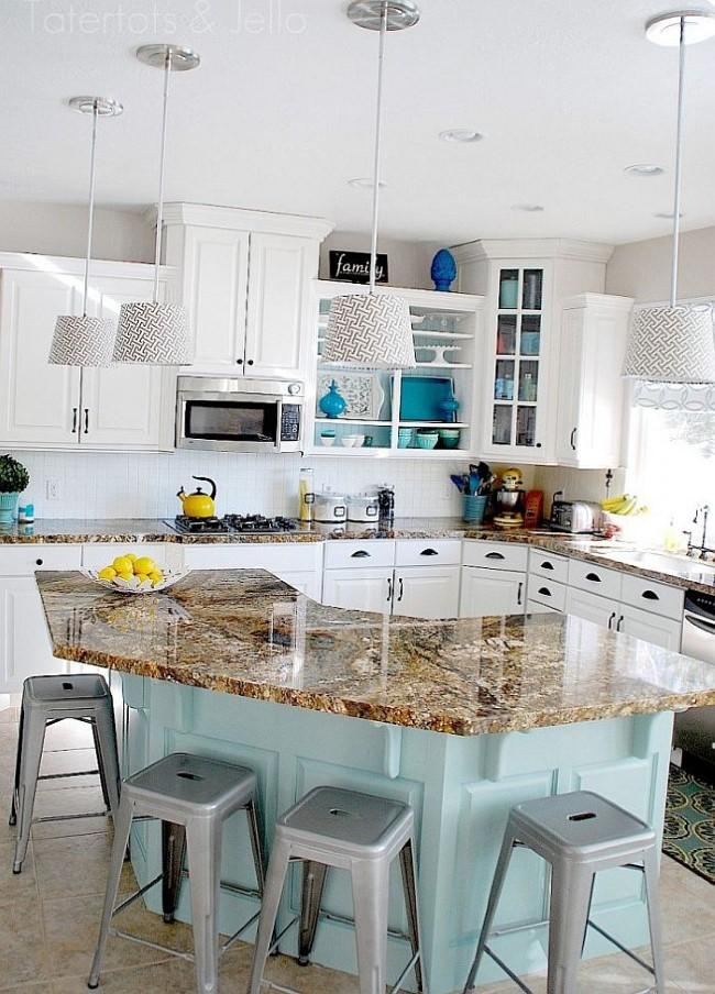 Turquoise and aqua kitchen ideas refresh restyle for Kitchen ideas turquoise