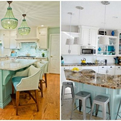 Turquoise and Aqua Kitchen Ideas
