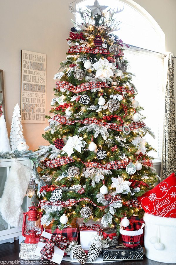 a pumpkin and a princess plaid christmas tree ideas