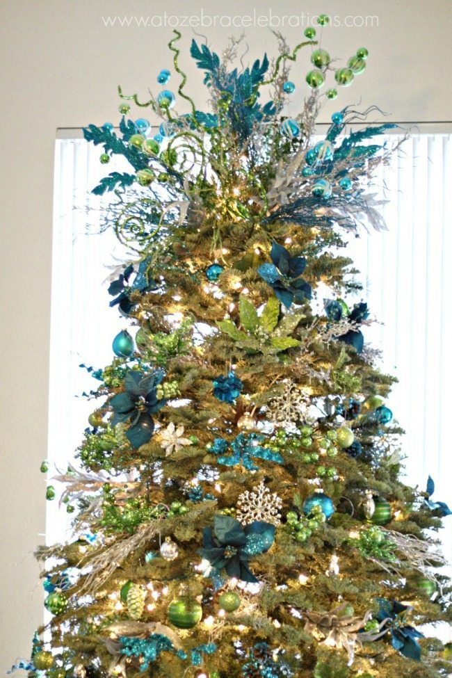 A to Zebra Celebrations, Blue Christmas Tree Ideas
