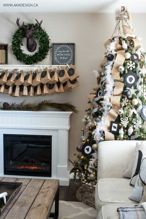 AKA Design, Gold and Silver Christmas Tree Ideas