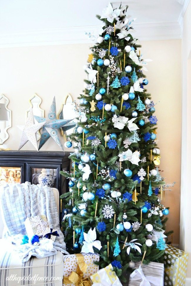At the Picket Fence, Blue Christmas Tree Ideas