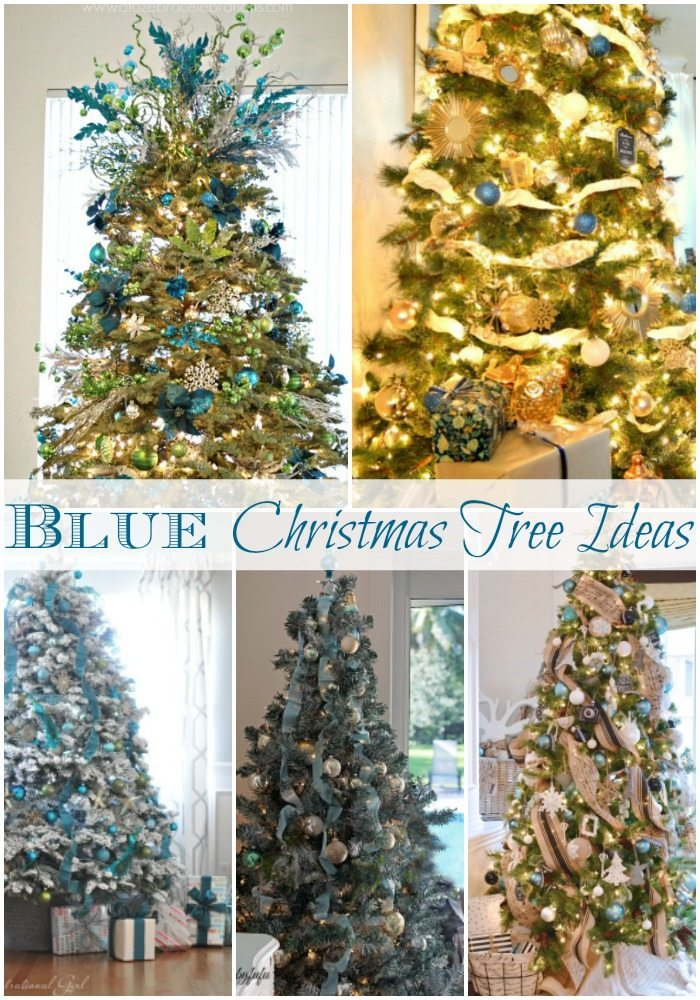 Blue Christmas Tree Ideas