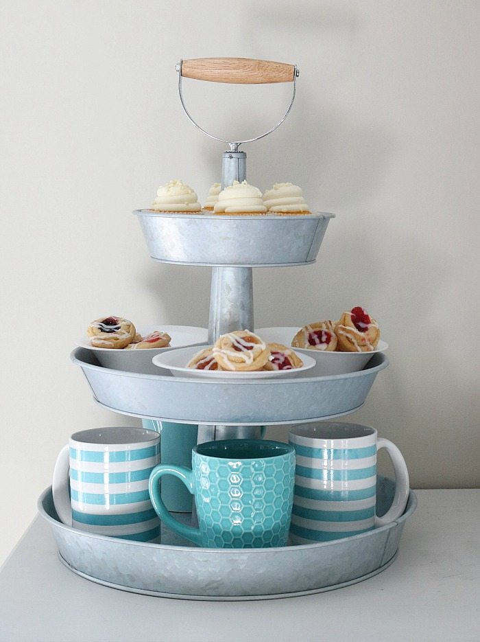 Marble Cake Stand Fruit