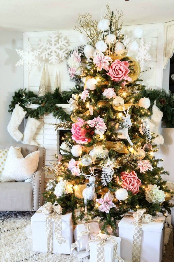 Classy Clutter, Gold and Silver Christmas Tree Ideas