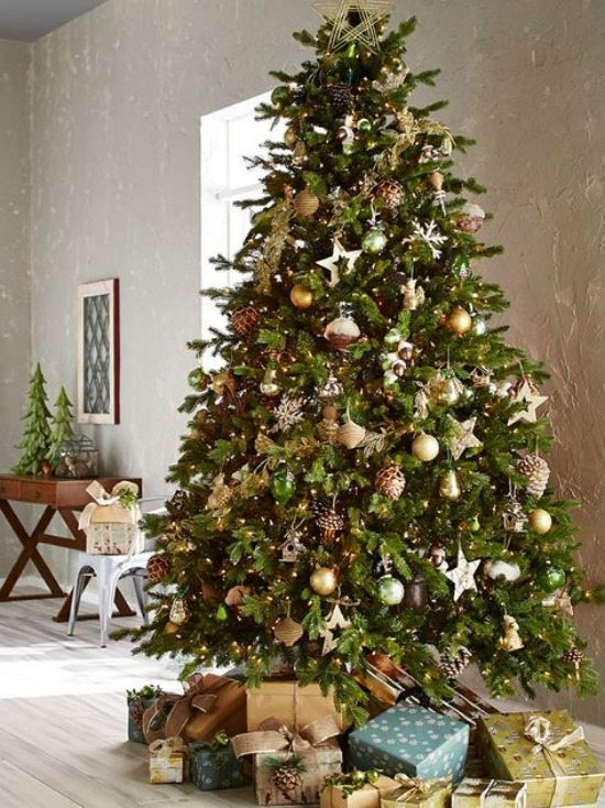 Craftberry Bush, Gold and Silver Christmas Tree Ideas