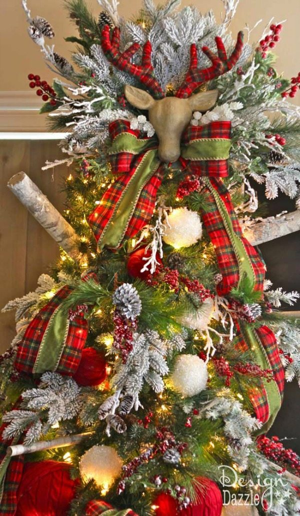 design dazzle plaid christmas tree ideas - Red And Black Plaid Christmas Decor