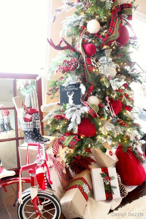 design dazzle plaid christmas tree ideas
