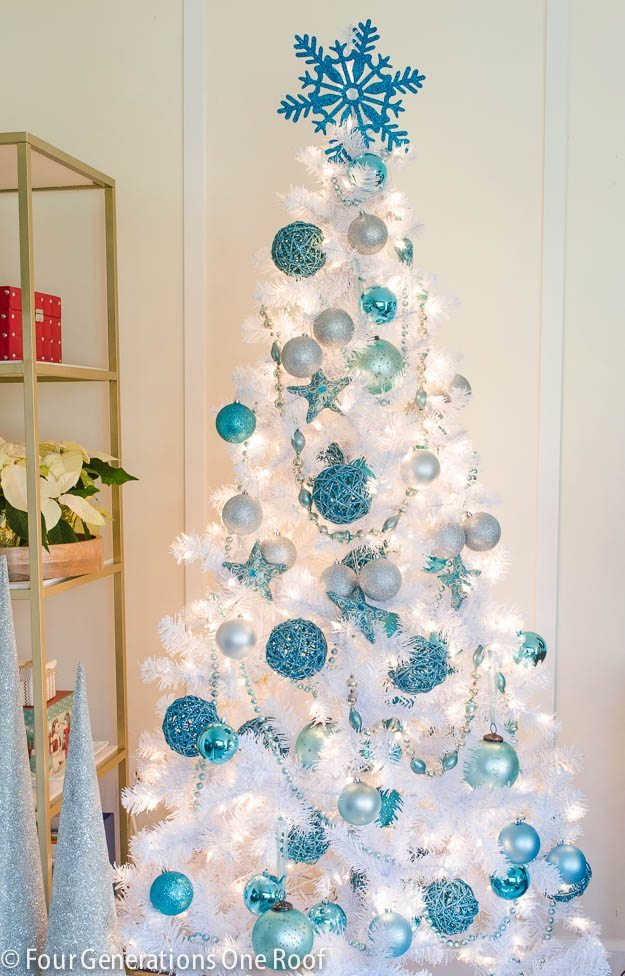 Four Generations One Roof, Blue Christmas Tree Ideas