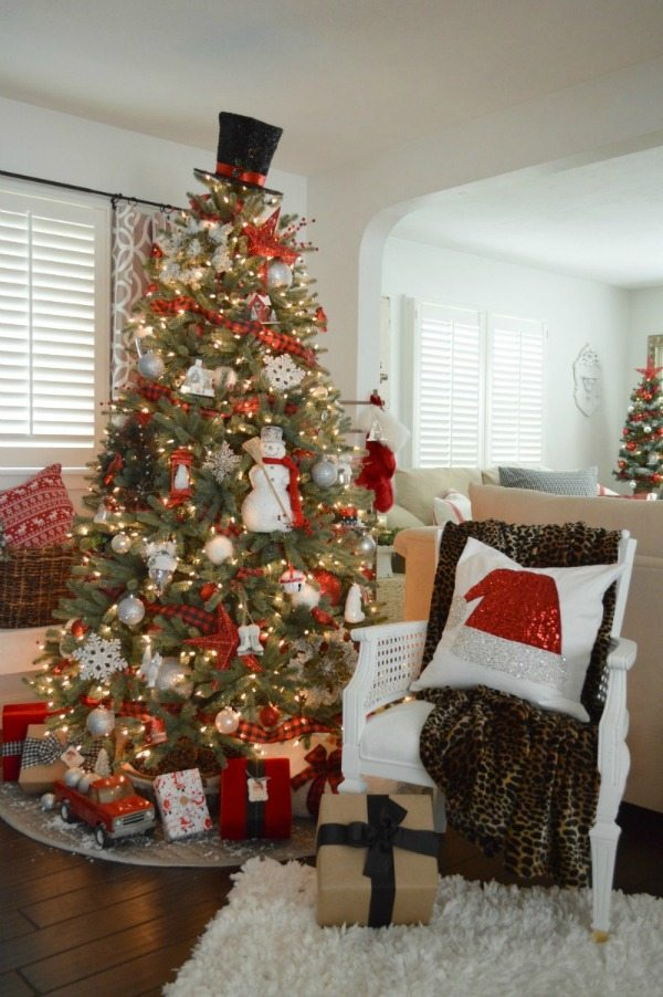 fox hollow cottage plaid christmas tree ideas - Plaid Christmas Tree Decorations