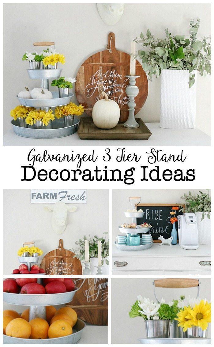 galvanized-3-tier-stand-decorating-ideas