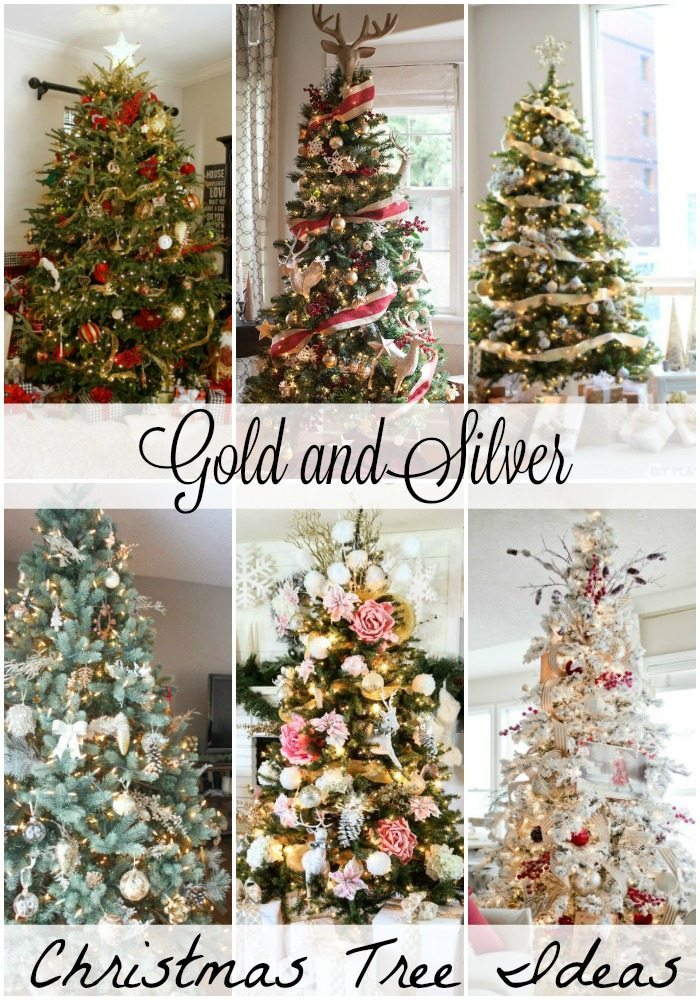 gold and silver christmas tree ideas - Christmas Tree Filler Decorations