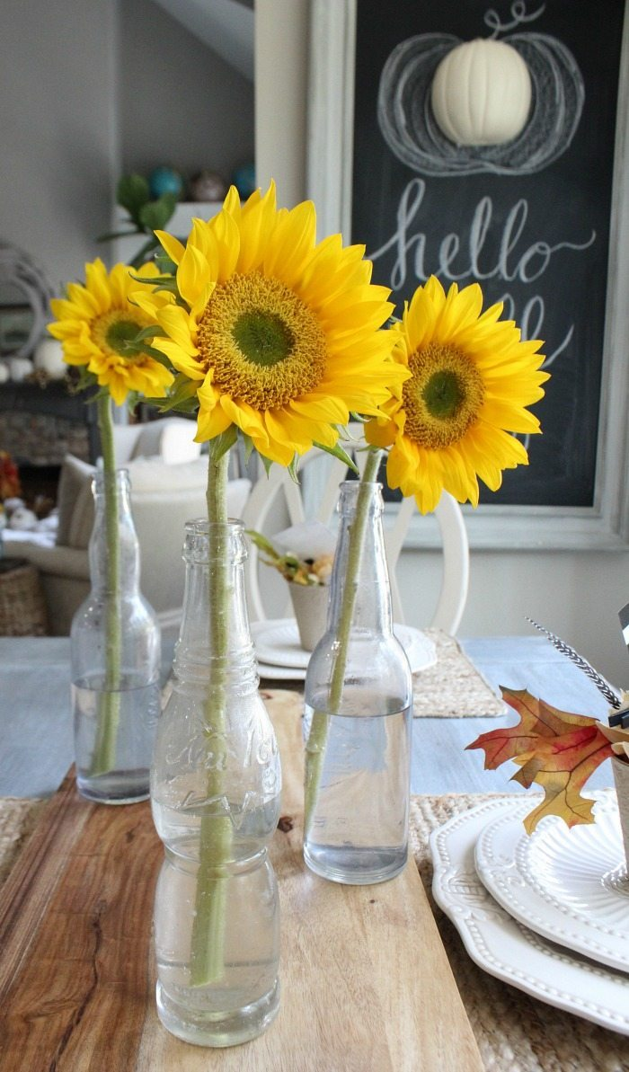 grocery-store-sunflowers-keep-it-simple-for-fall-decor