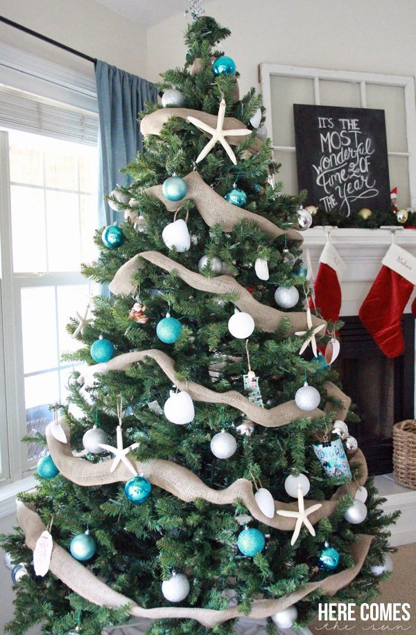 here comes the sun blue christmas tree ideas