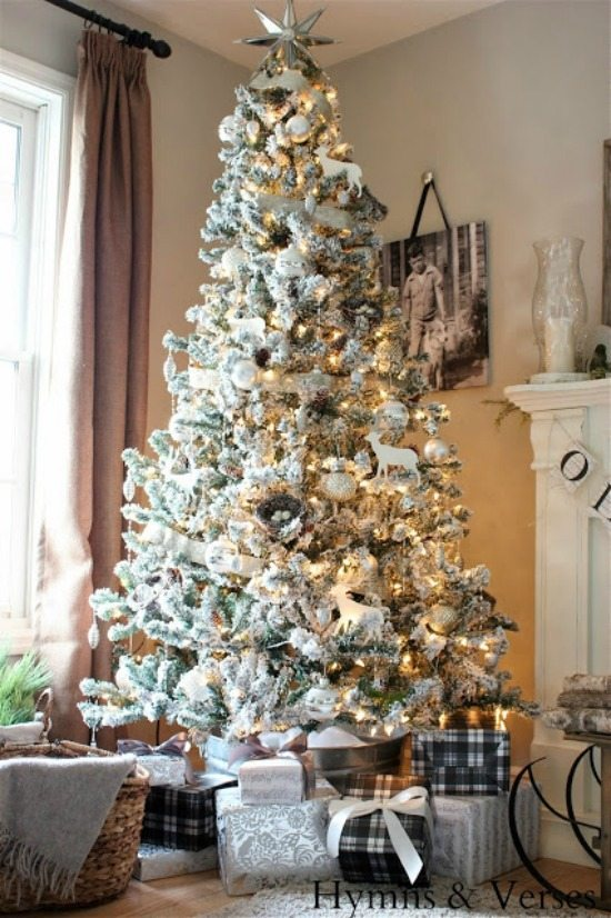 hymns and verses gold and silver christmas tree ideas via refresh restyle