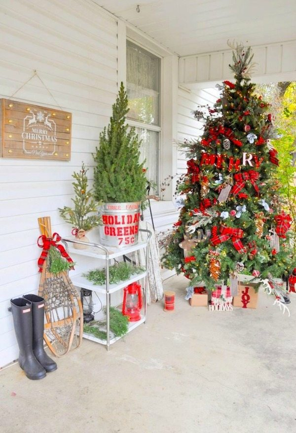 karas party ideas plaid christmas tree ideas