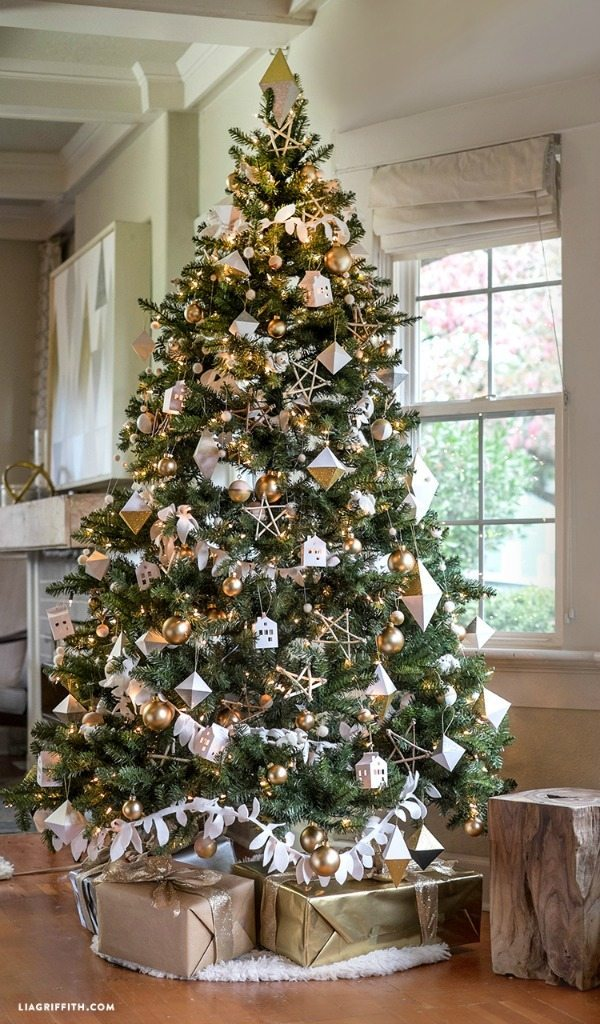 lia griffith gold and silver christmas tree ideas
