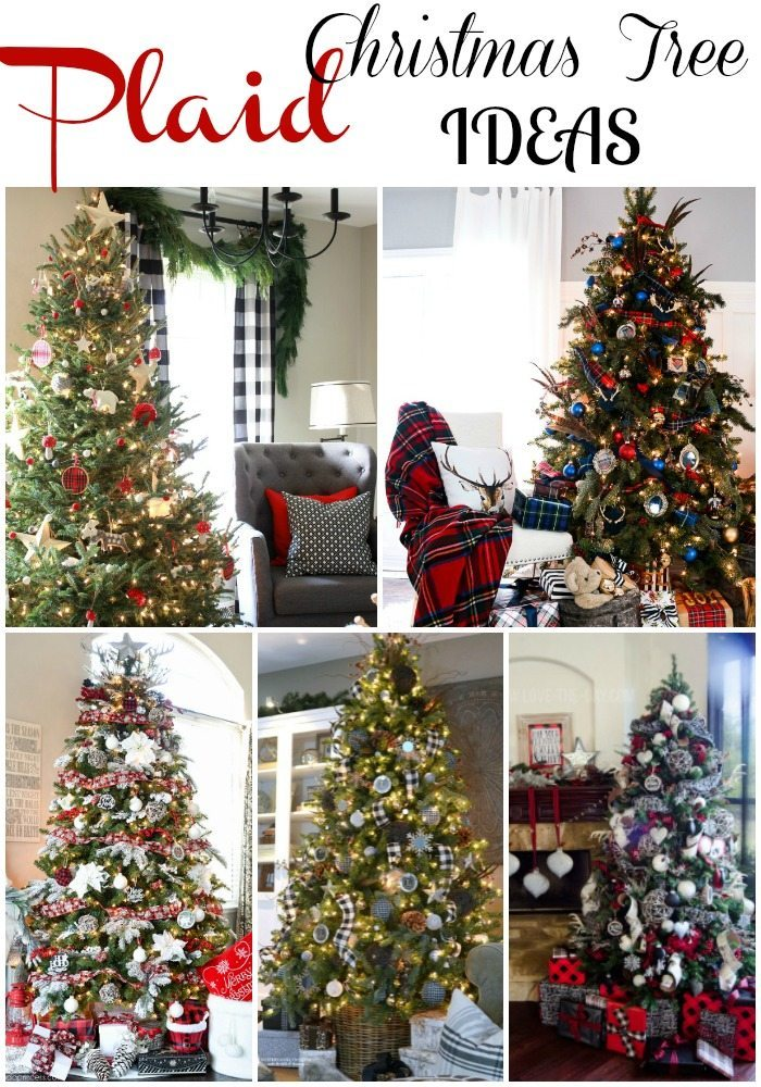 plaid christmas tree ideas - Plaid Christmas Tree Decorations