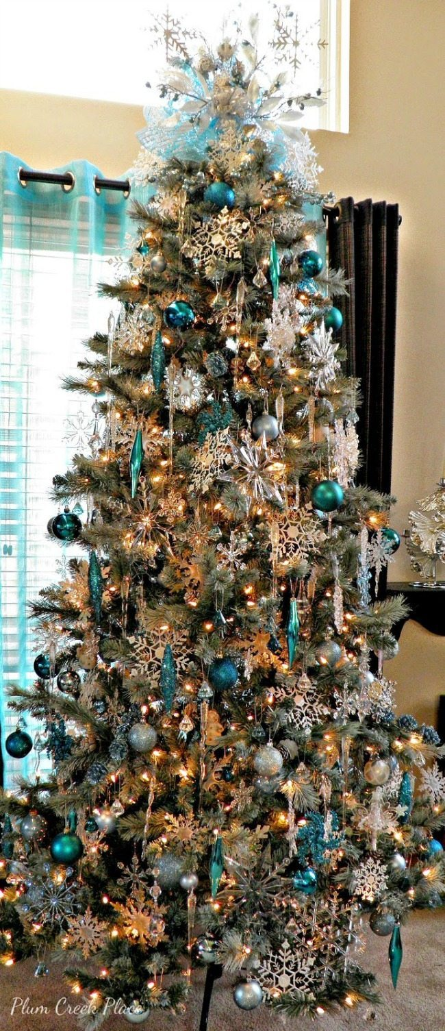 Blue christmas trees decorating ideas - Plum Creek Place Blue Christmas Tree Ideas
