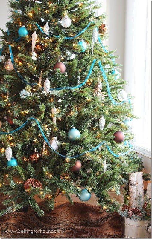 Blue Christmas Tree Ideas Refresh Restyle - Country Christmas Tree Ideas