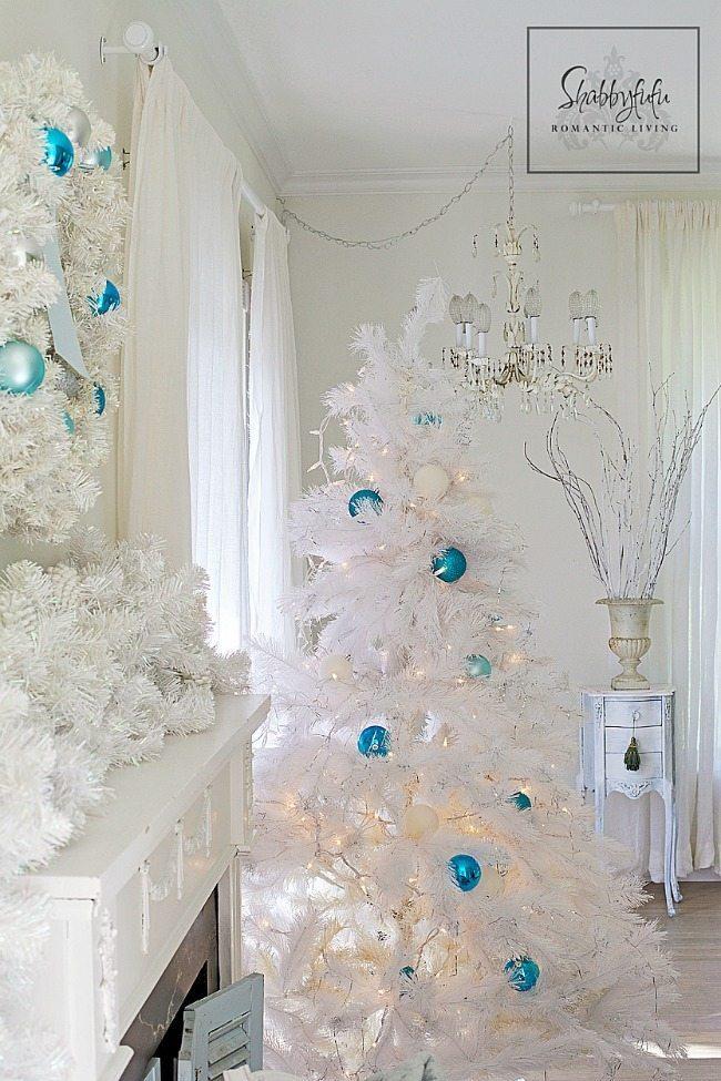 Shabbyfufu, Blue Christmas Tree Ideas