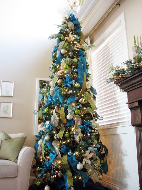 Sita Montgomery Interiors, Blue Christmas Tree Ideas