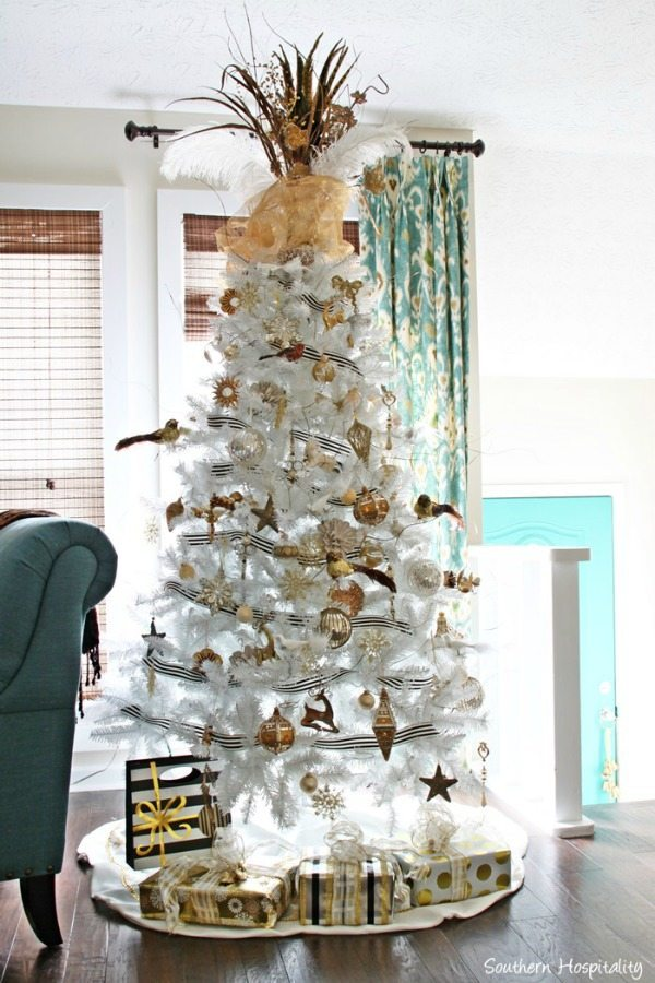 Southern Hospitality, Gold and Silver Christmas Tree Ideas