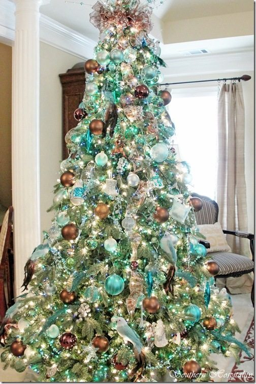 Southern Hospitality, Blue Christmas Tree Ideas