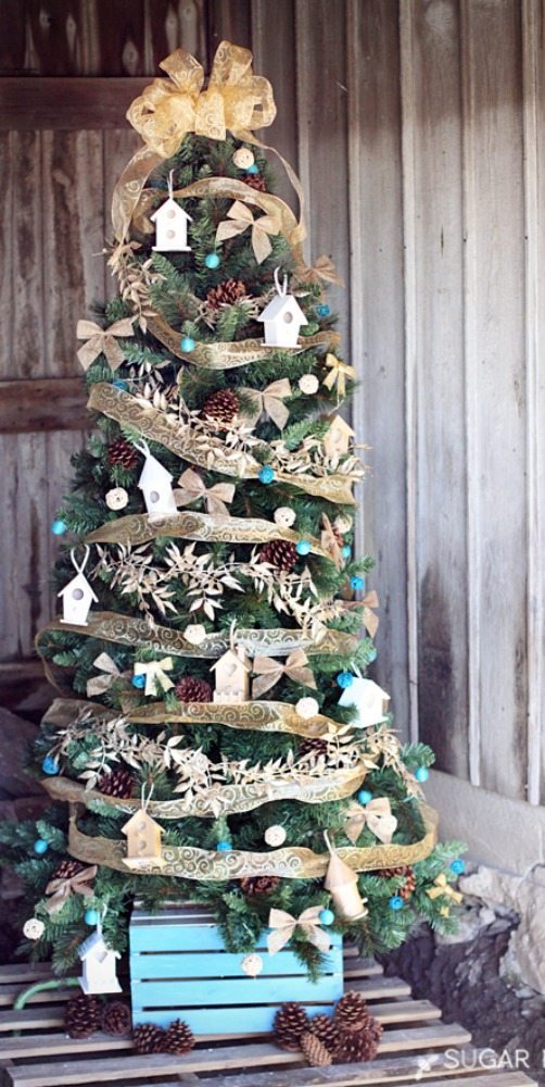 Sugar Bee Crafts, Gold and Silver Christmas Tree Ideas
