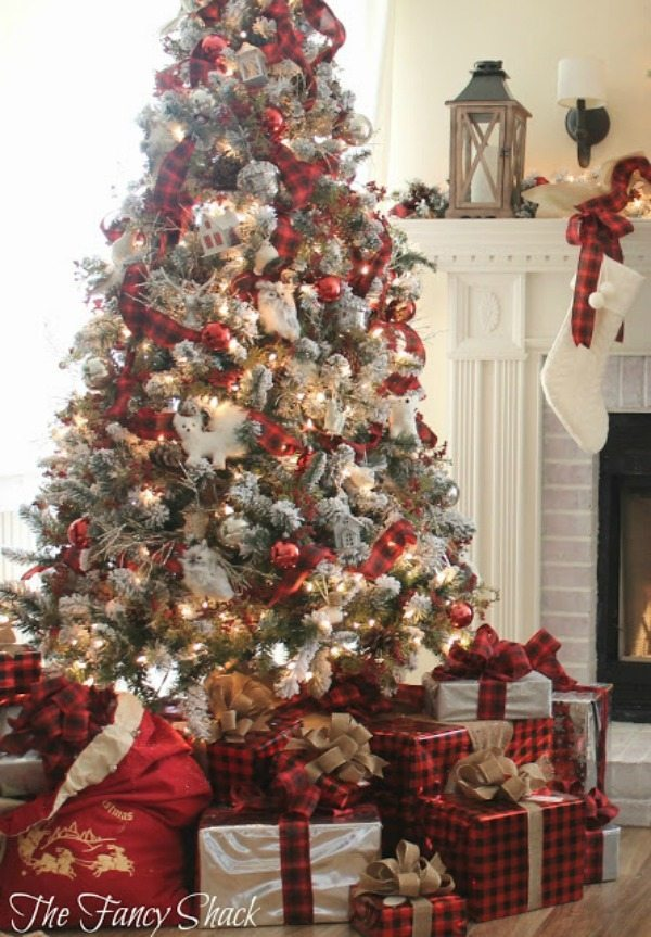 the fancy shack plaid christmas tree ideas