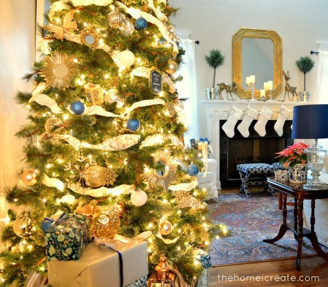 The Home I Create, Blue Christmas Tree Ideas