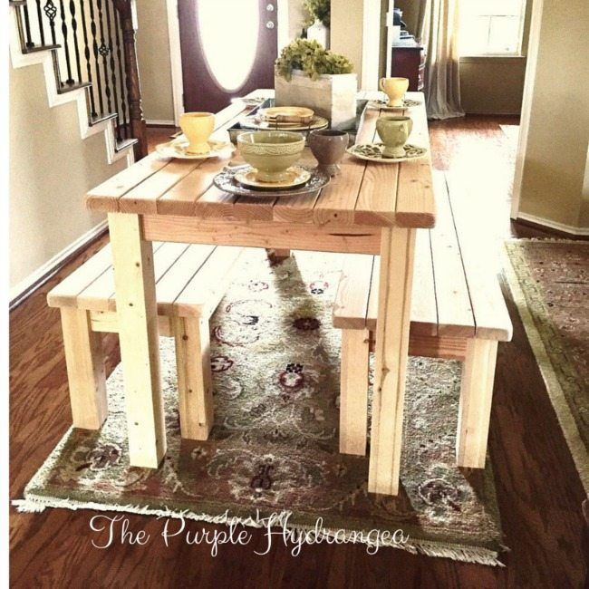 The Purple Hydrangea, Farmhouse Tables