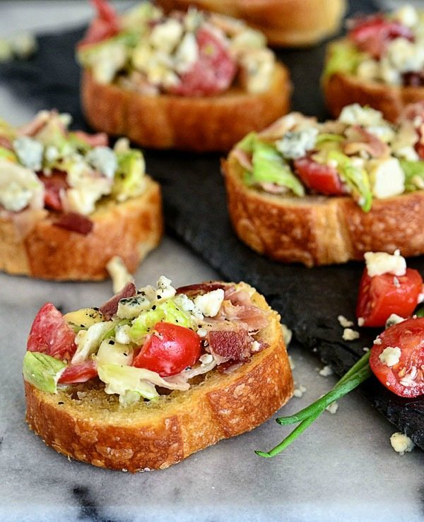 Blue Cheese Wedge Salad Crostini, 20 Easy Party Appetizers