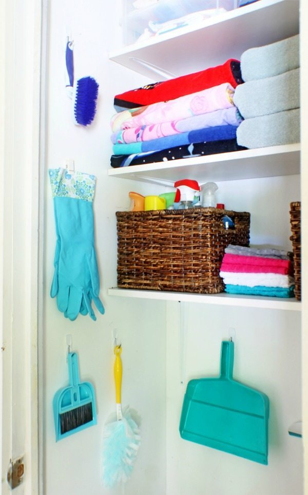 Cleaning Closet Organization, Organization Ideas and Tips via Refresh Restyle