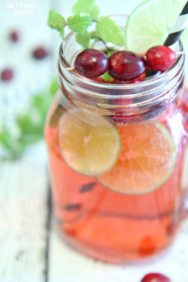 Cranberry Mojito Fizz, Easy Cocktail Recipes via Refresh Restyle