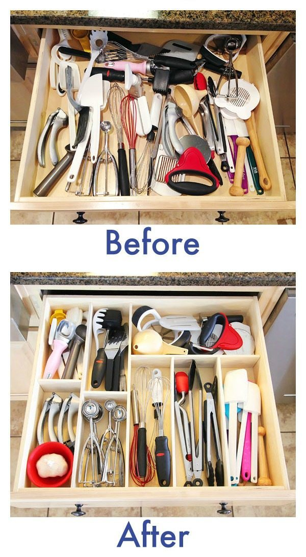 DIY Kitchen Drawer Organization, Organization Ideas and Tips via Refresh Restyle