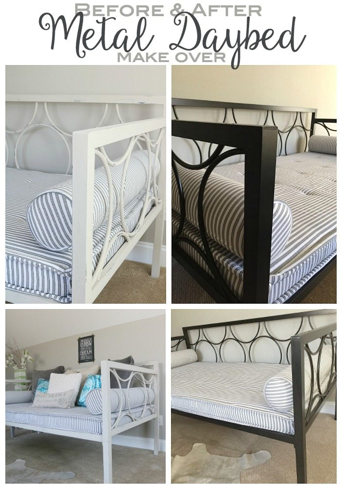 From Modern Metal Daybed to Shabby Chic Fab Makeover with Chalk Paint