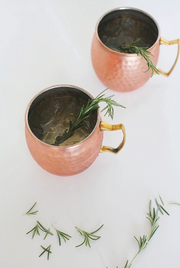 Gin and Ginger Fizz with Rosemary, Easy Cocktail Recipes via Refresh Restyle