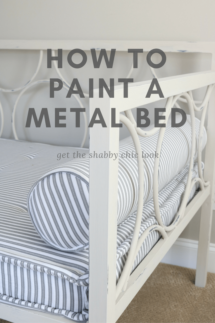 How to paint a metal bed like this daybed with Maison Blanche furniture paint