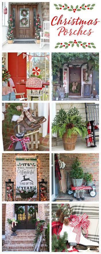 Rustic Christmas Porch ideas for decorating your front porch