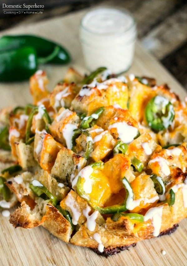 Jalapeno Ranch Pull Apart Bread, 20 Easy Party Appetizers via Refresh Restyle