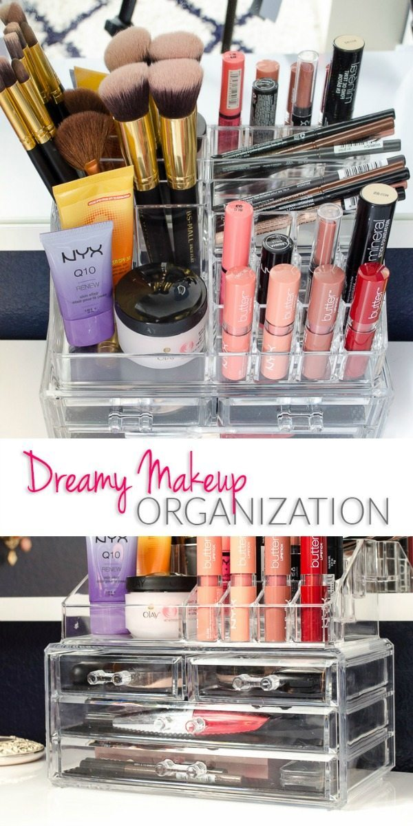 Makeup Organizer, Organization Ideas and Tips via Refresh Restyle