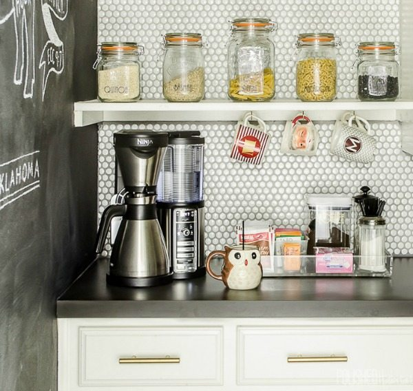Coffee Station, Organization Ideas and Tips via Refresh Restyle