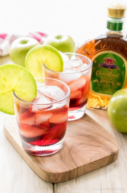 Royal Pomegranate Apple Cocktail, Easy Cocktail Recipes via Refresh Restyle