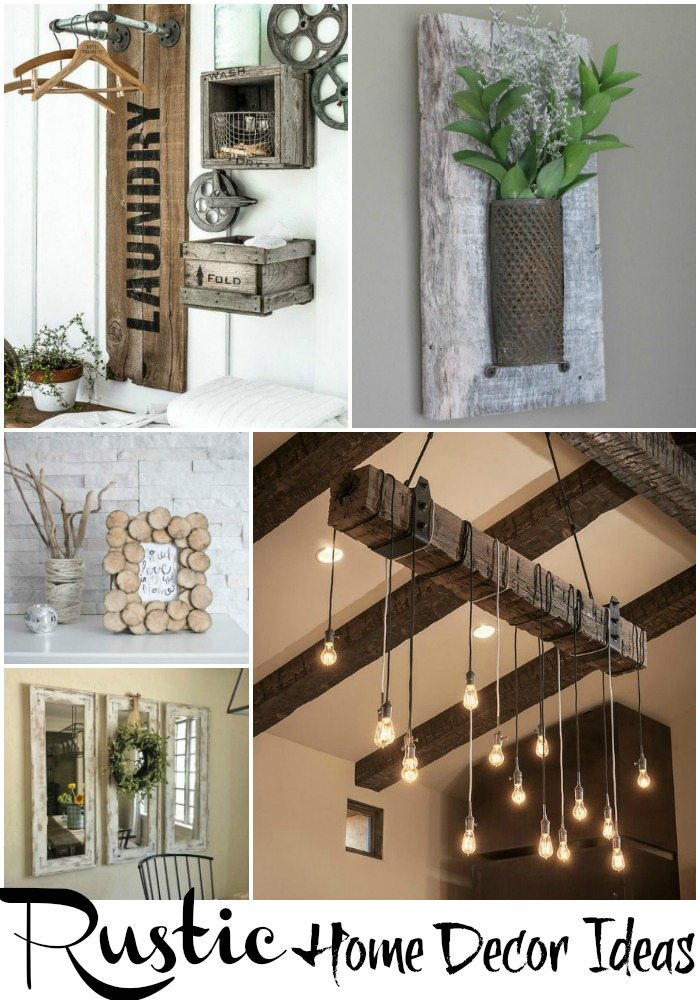 rustic home decor ideas via refresh restyle - Diy Rustic Home Decor Ideas